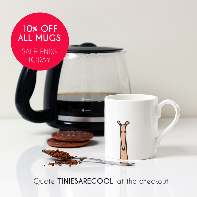 10% off Tiny Grey mugs - sale ends today!